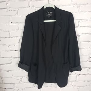 Talula Black Relaxed Fit Blazer